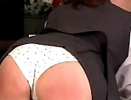 Cute teen girl caned with her school panties pulled down - hot stripes and tears