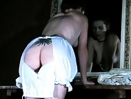 Amber dresses up in Victorian era bloomers for this sexy spanking film