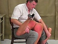 The spanking in this video is a testament to how vicious the headmaster can be to certain students.  Sandra hadnt really done anything wrong as of lat