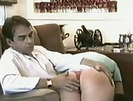 Kinky mom wants the repairman to spank her big round ass